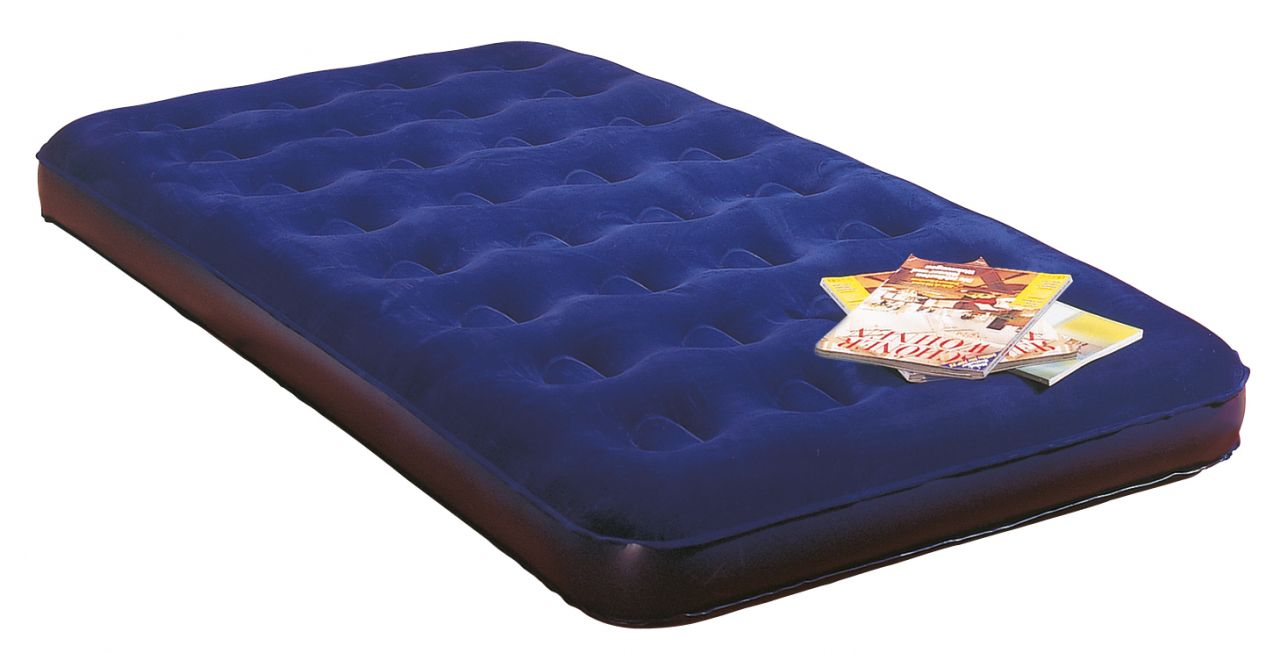 Velours-Luftbett Royal-Blue, 191 x 137 cm
